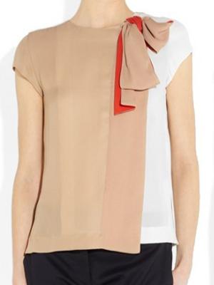 dfe6b91bb Blusas de verano de los tejidos combinados.