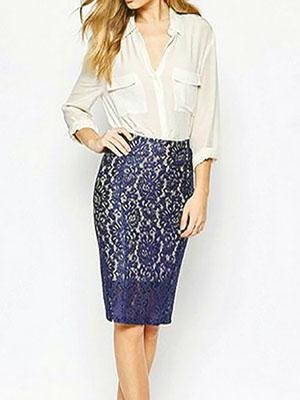 Блузка для юбки карандаш