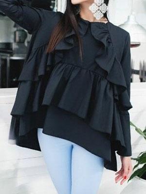cad8f41351a Модные женские блузки с рюшами