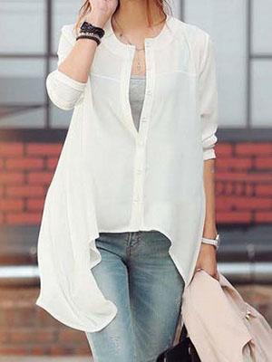 b6b2353eeb9 Модные удлиненные блузки  фото красивых моделей из шифона и других ...